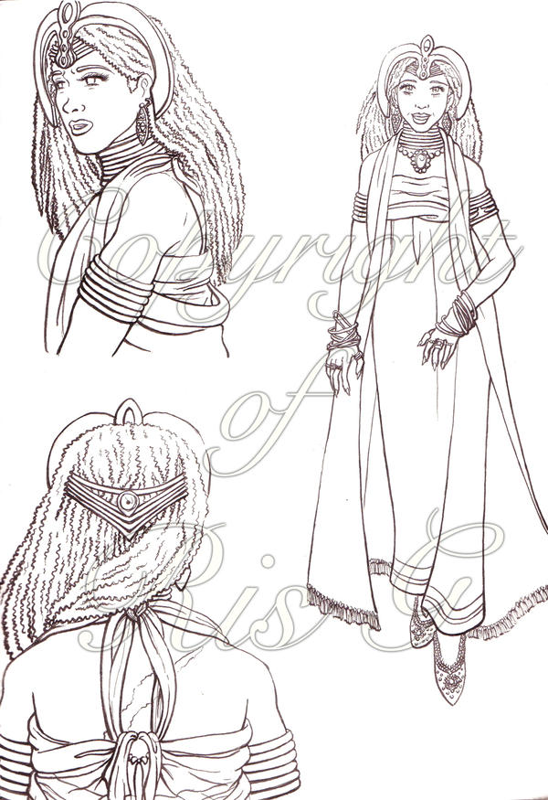 d: African Queen: Lineart :b by nenuiel