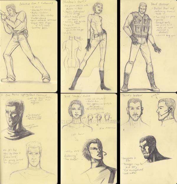 Sketches 1 by nenuiel