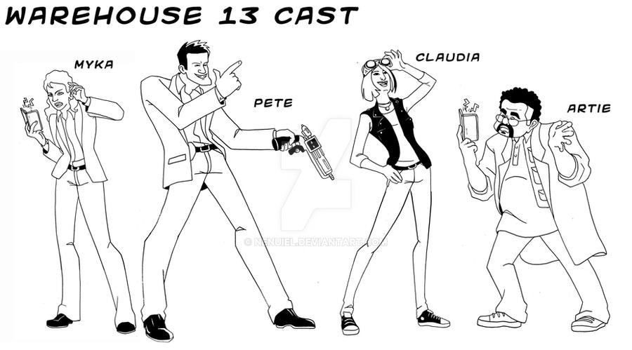 Warehouse 13 Animation Cast by nenuiel