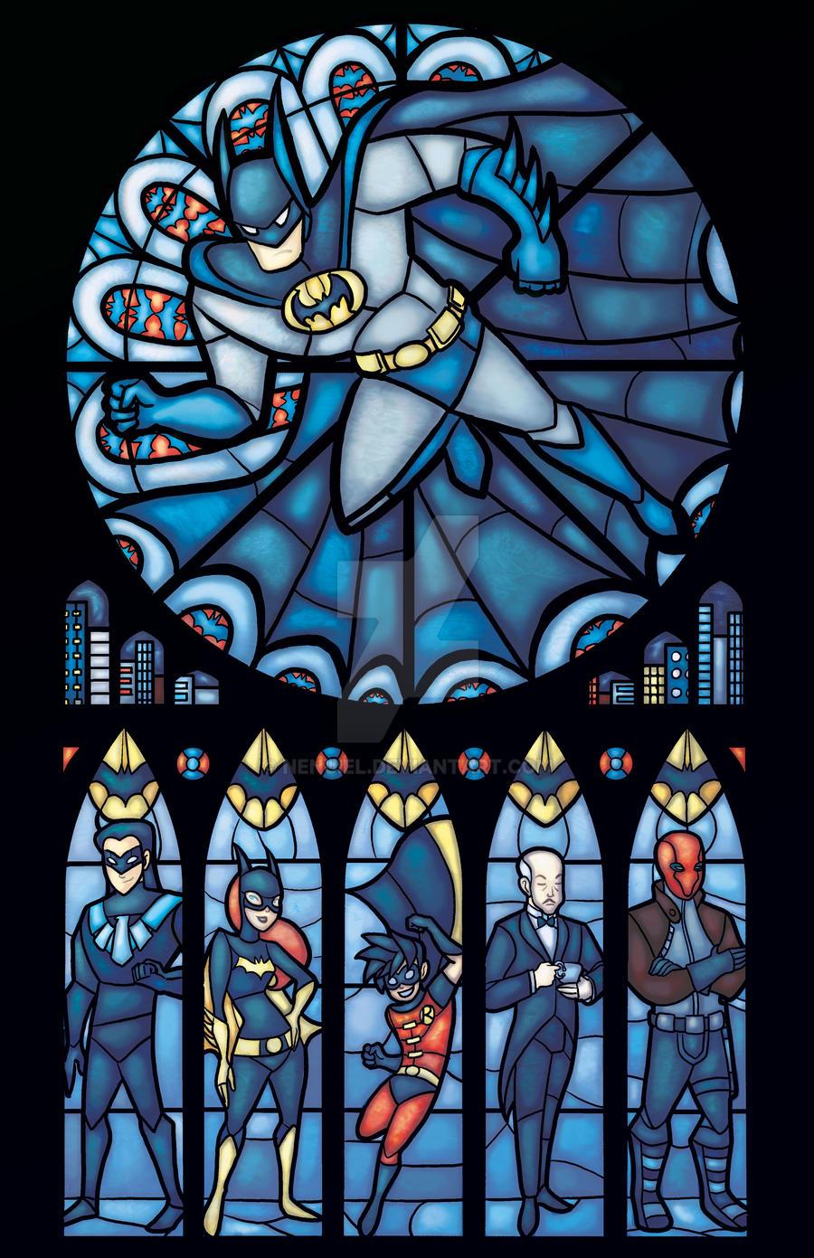 d: Batman Rose Window :b by nenuiel