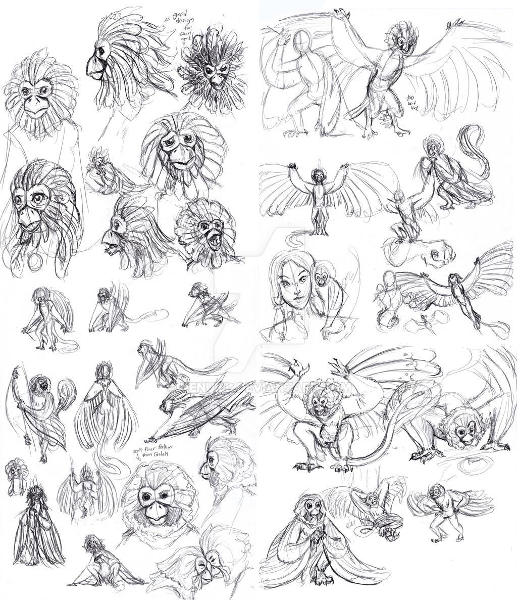 Niddler Sketches by nenuiel