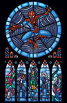 Spiderman Stained Glass Window