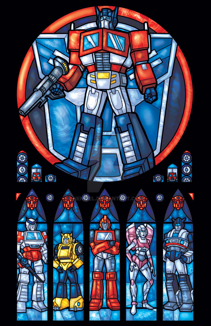 Autobots, ROLL OUT Stained Glass Style by nenuiel
