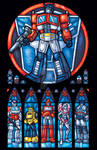 Autobots, ROLL OUT Stained Glass Style