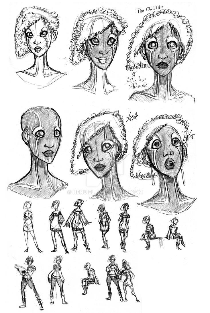 Sia Sketches 1 by nenuiel