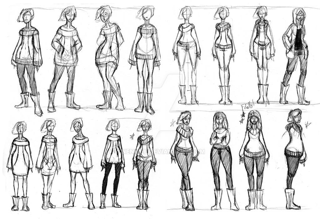 Sia Sketches 2 by nenuiel