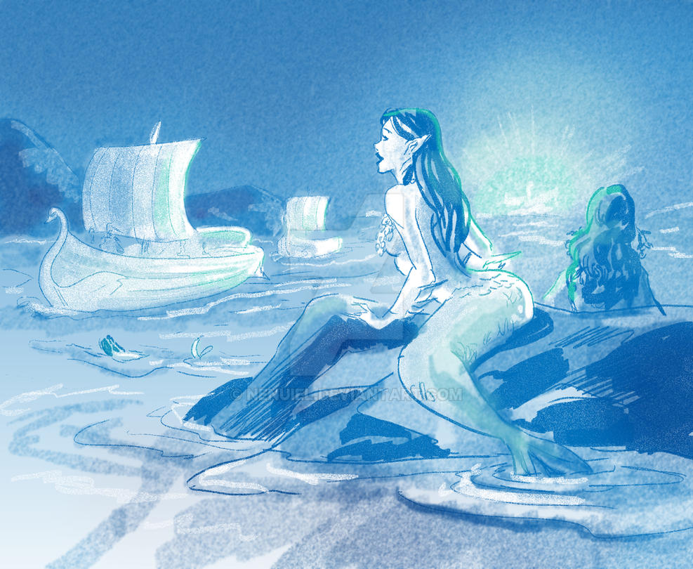Maia of the Sea - Daily sketch 10.20.14 by nenuiel