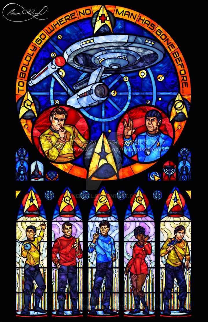 Star Trek - Original Series Stained Glass by nenuiel