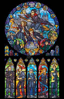 Harry Potter Stained Glass Illustration
