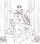 Hades and Persephone: Lineart