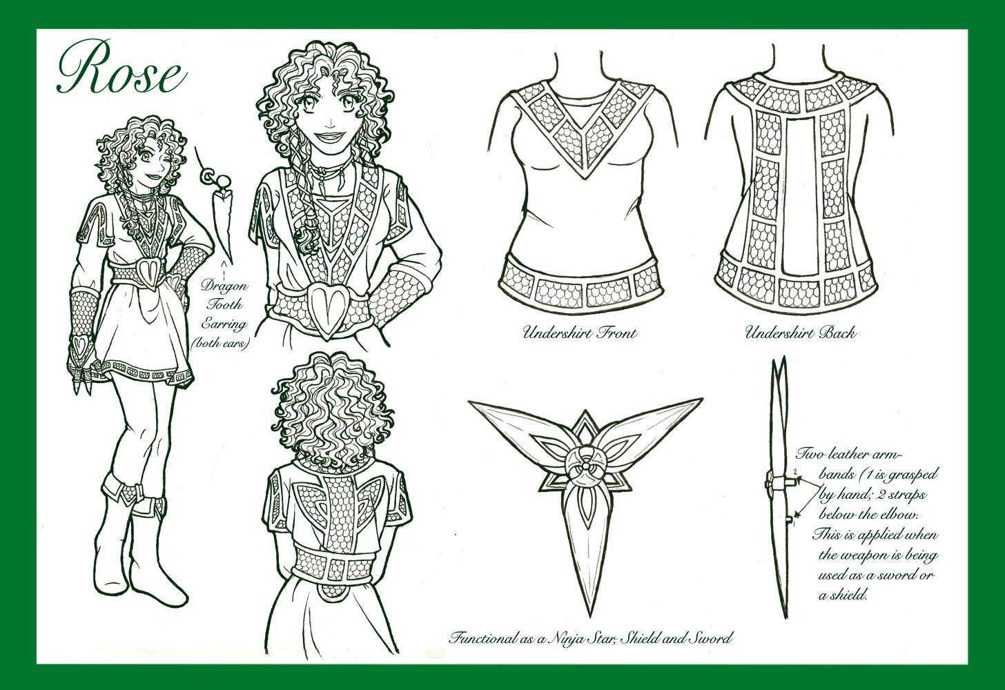 Rose : Lineart by nenuiel