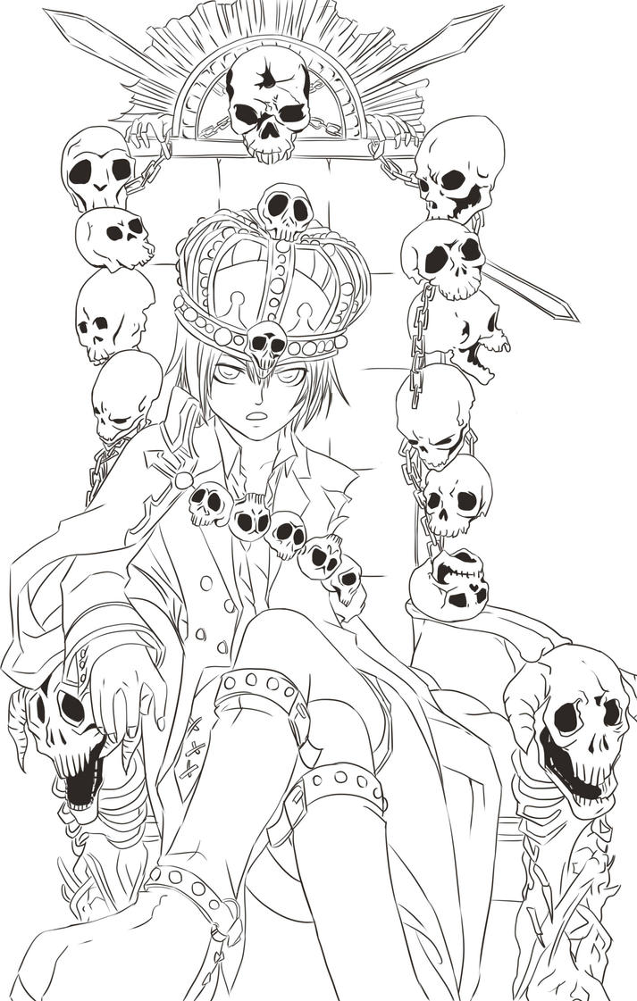 Seven Deadly Sins Anime Coloring Pages Sketch Coloring Page