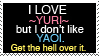 Love Yuri, Hate Yaoi. by Psyko-Kinetics