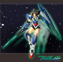 Gundam 00qan-T girl by StreyCat