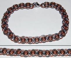 Stainless Steel and Copper Helms Deep Bracelet