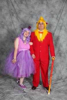 Lady Espeon and Sir Flareon Cosplay