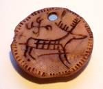 Polymer Clay Deer Artifact2 by ValerianaSolaris