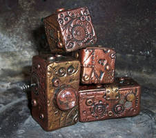 Steampunk Polymer Clay Blocks4 by ValerianaSolaris