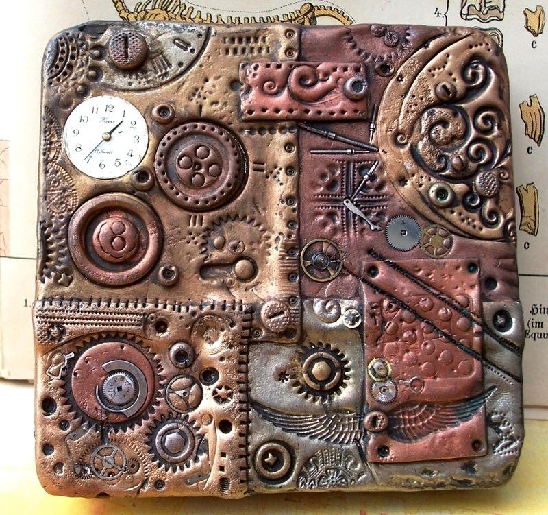 Polymer Clay Steampunk Tin by ValerianaSolaris