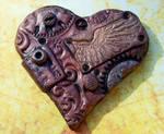 Steampunk Heart Brooch