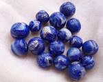 Polymer Clay Lapislazuli Beads