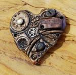 Steampunk Heart Brooch 2
