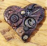 Steampunk Heart Brooch 3