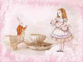 Papermache Alice Tea Cup by ValerianaSolaris