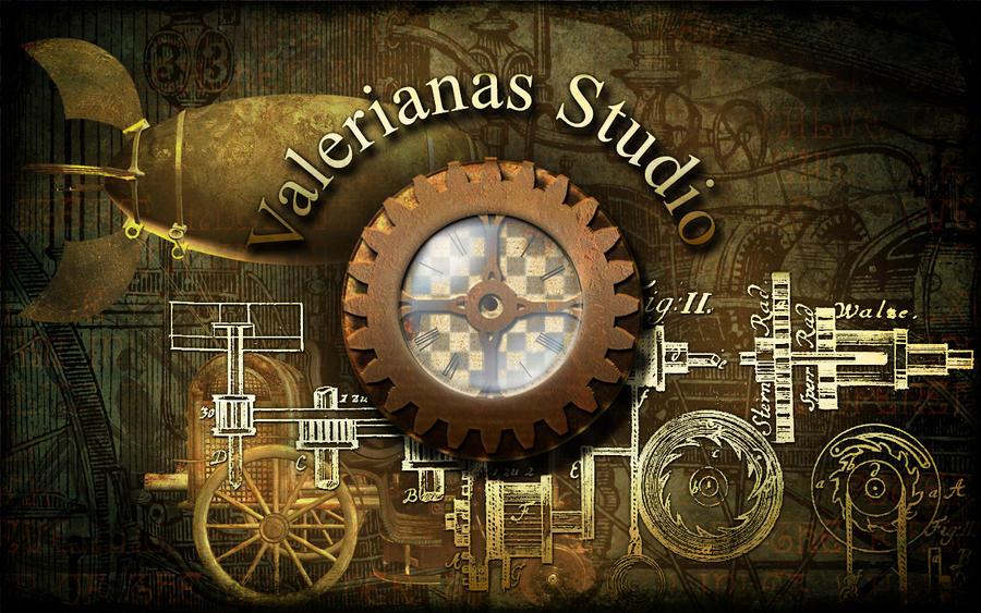 Steampunk Shop Wallpaper