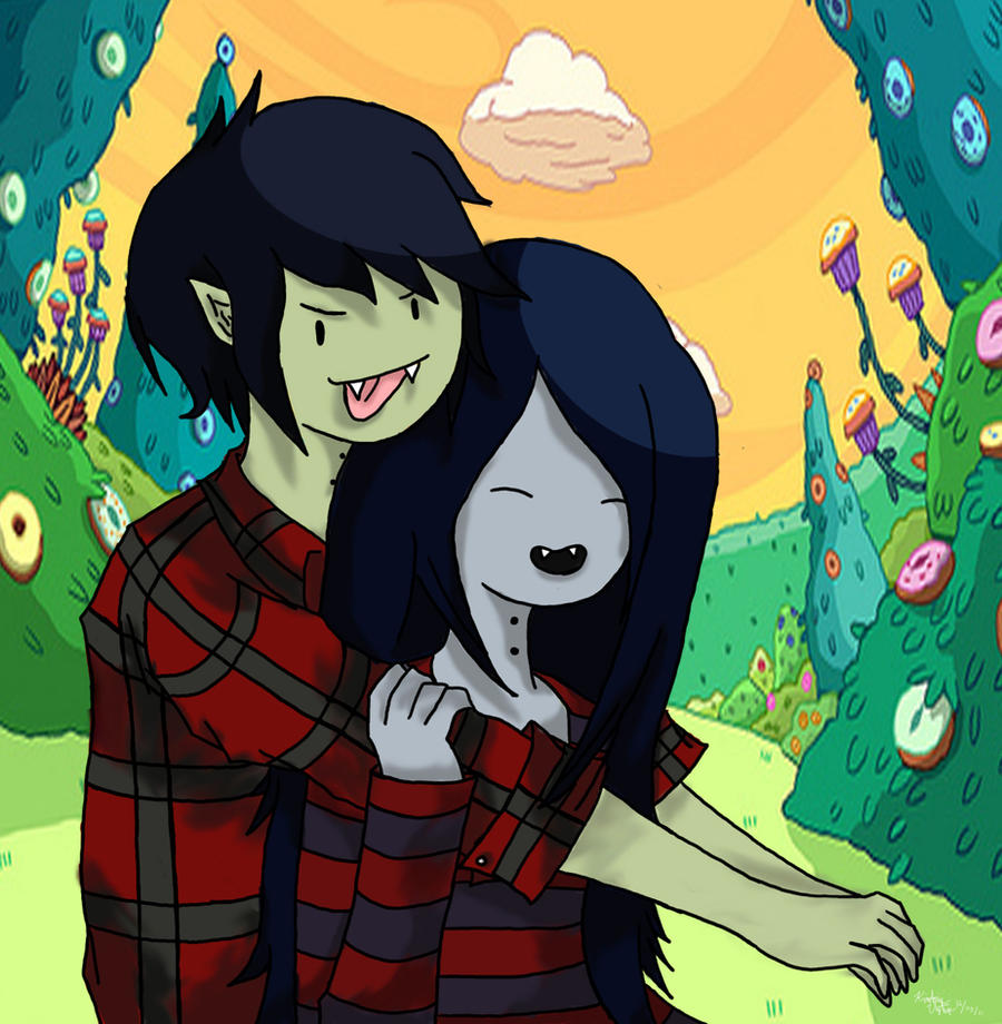Marceline and Marshall by TrueLightHikari