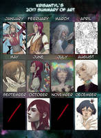 2017 Summary Of Art by Krisantyl