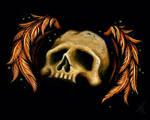 Winged Skull by natalievonraven