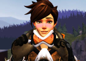 Blushing Tracer by Darkness-Ringo