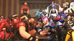 Arm wrestling: Heavy vs. Zarya by Darkness-Ringo