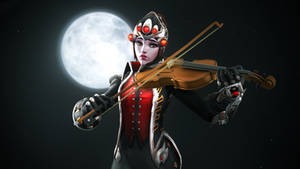 That Huntress, playing the violin. by Darkness-Ringo