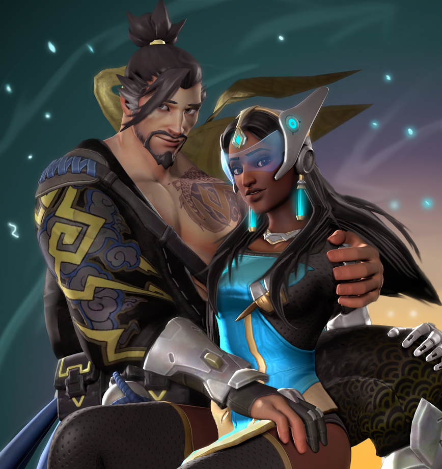 Hanzo Wallpaper: Hanzo And Symmetra (SFM) By DarknessRingoGallery On DeviantArt