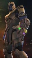 Thanos the Troll Titan by Darkness-Ringo
