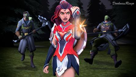 Fortnite: Wonder Valor Woman by Darkness-Ringo