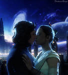 Reylo in the night.