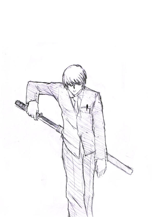 how to draw someone holding a sword