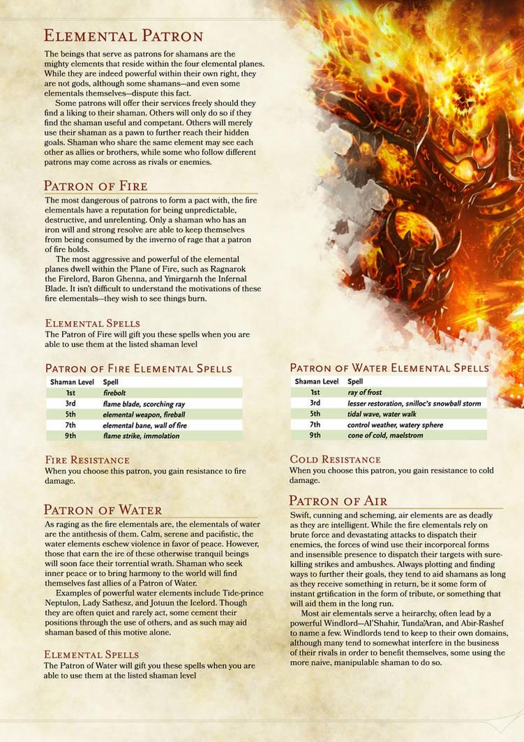 DND 5E Shaman Homebrew (Page 5) by ChaosSummers on DeviantArt