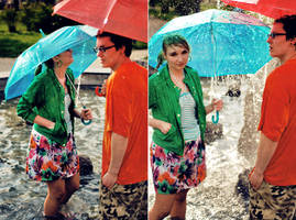 dancing in the rain :P by efedrina