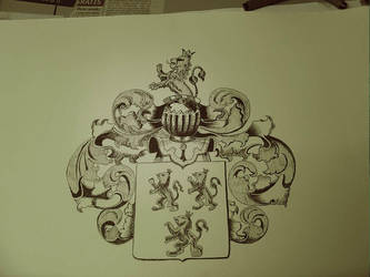 Family coat of arms for a friend of mine. by yvoske