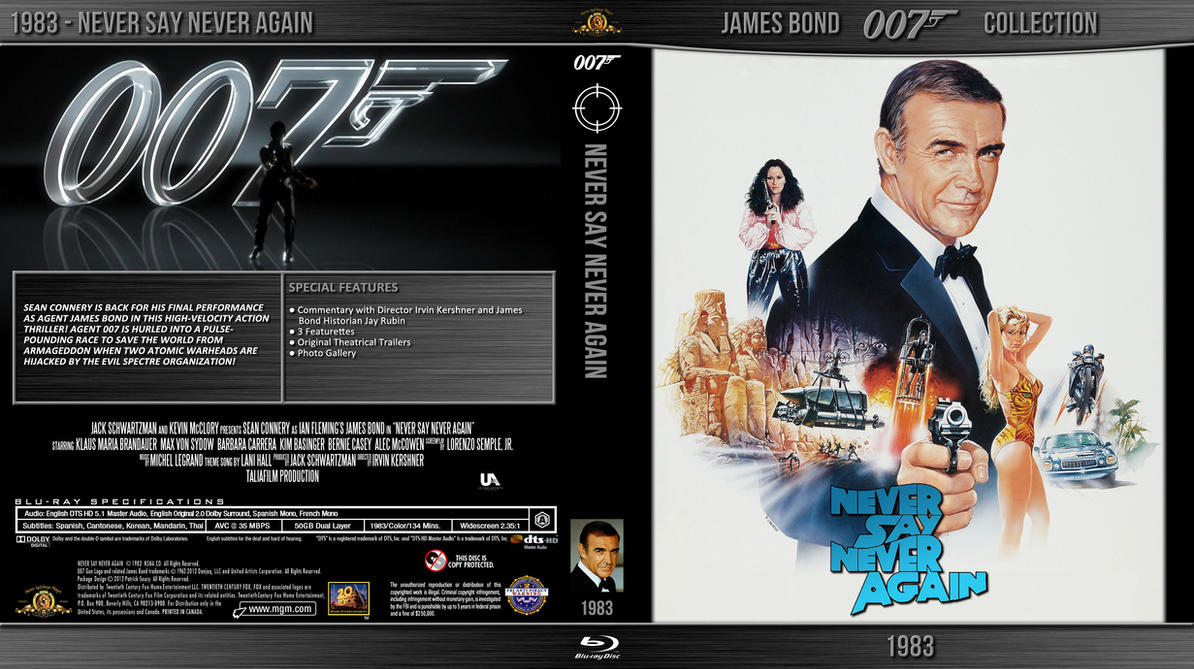 Blu Ray Bond 007 Never Say Never Again By Morsoth On