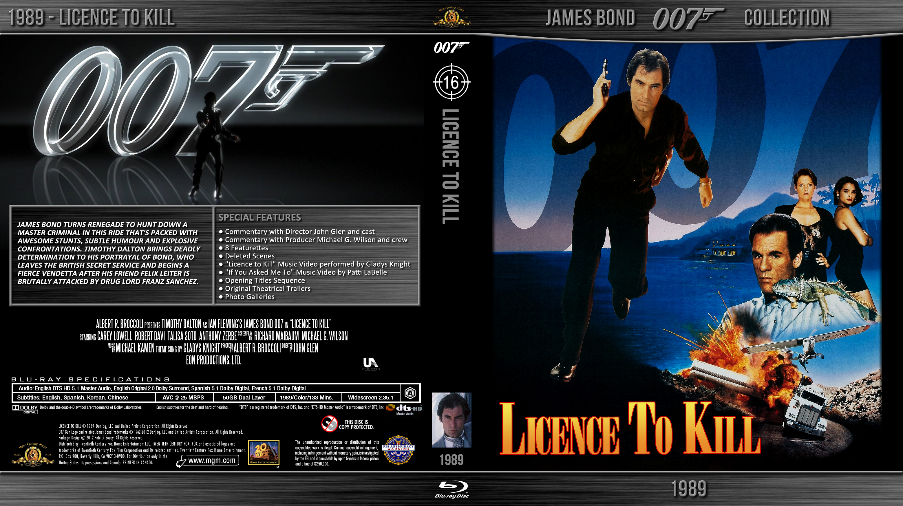 Blu-ray - Bond 007 - 16 Licence to Kill by Morsoth on ...