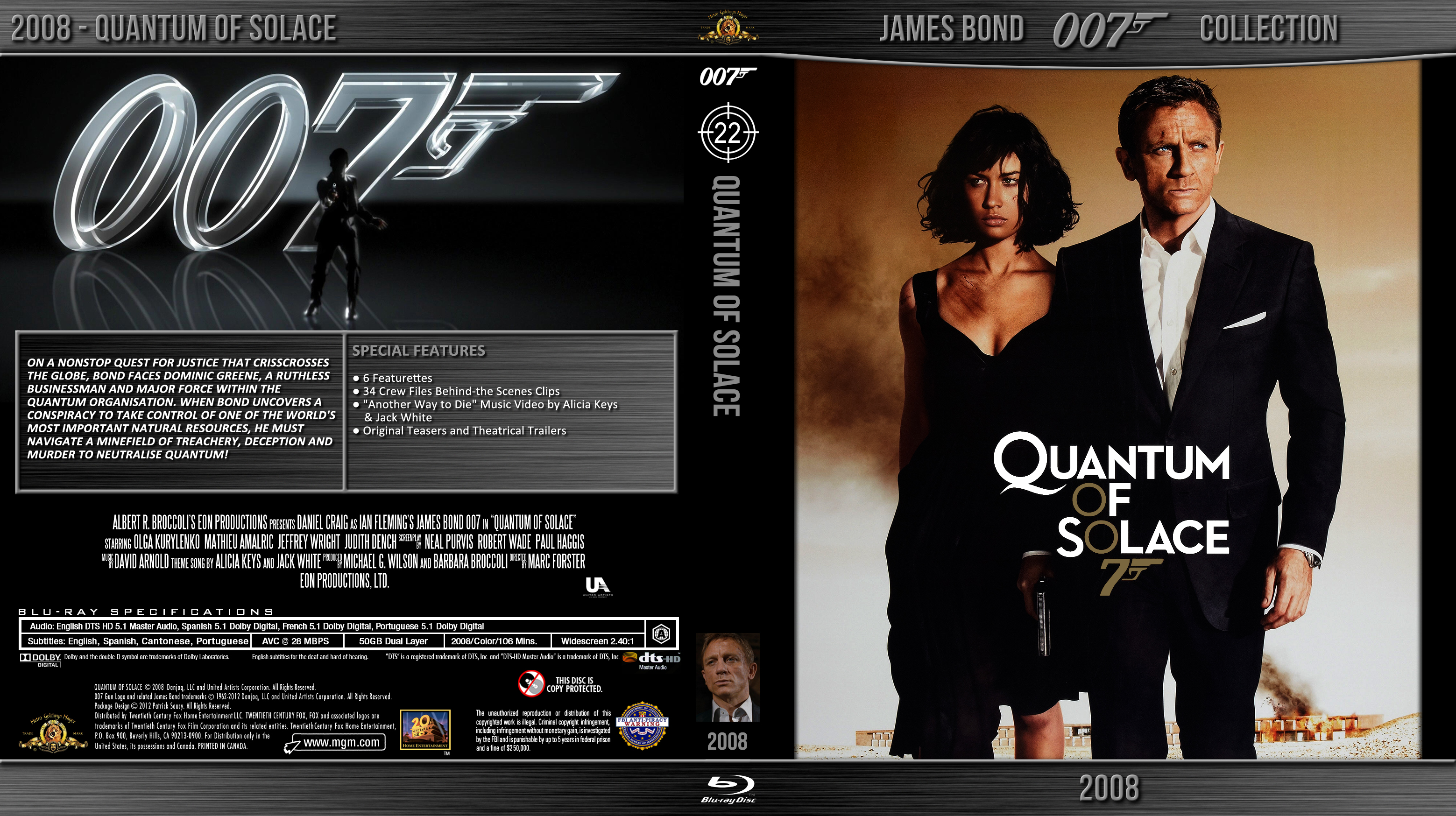 Blu-ray - Bond 007 - 22 Quantum of Solace by Morsoth on ...