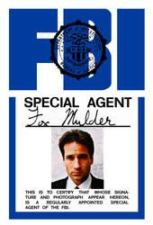 The X-Files - Fox Mulder FBI Badge Replica by Morsoth