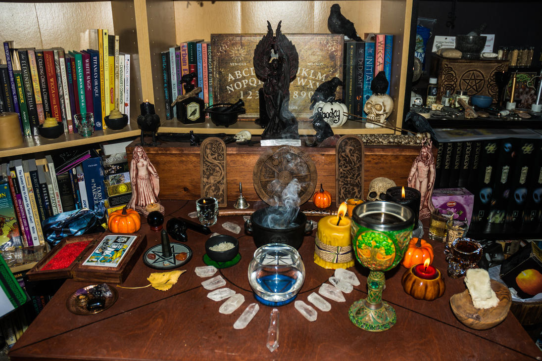druidcraft altar samhain 2016 altar i by morsoth on deviantart. Black Bedroom Furniture Sets. Home Design Ideas