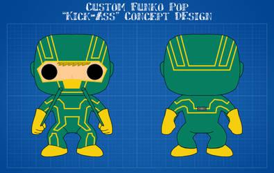 Custom Funko Pop - Kick-Ass (Comic Book Version)