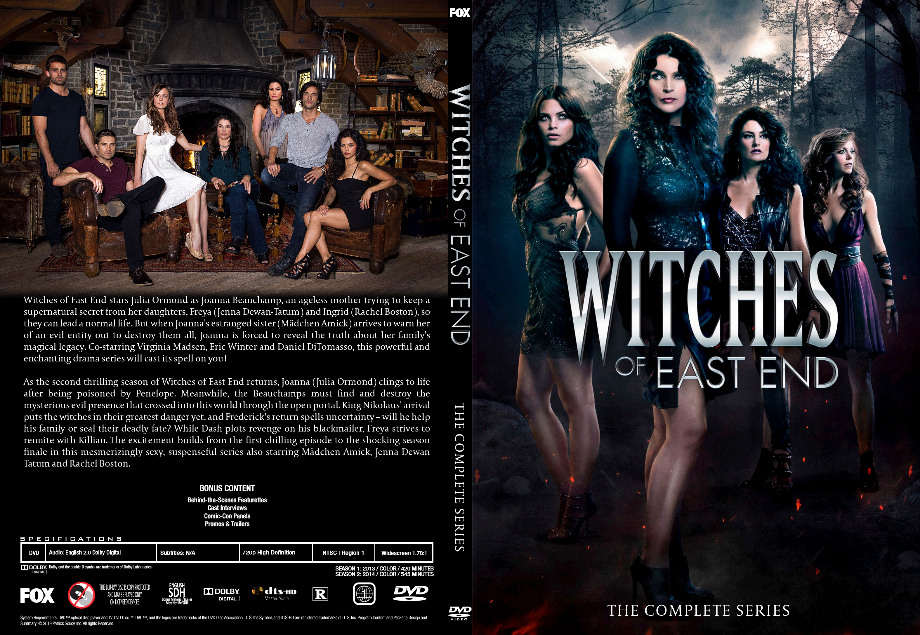 Dvd Witches Of East End The Complete Series By Morsoth On Deviantart